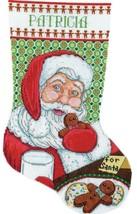 Design Works Santas Cookies Milk Christmas Cross Stitch Stocking Kit 5922 - $29.95