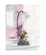 Fairy Bedroom Lamp Purple Light Girls Wings Flower Collectible Art Corde... - $68.19