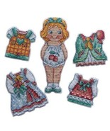 Mini Cross Stitch Embroidery Kit Doll Girl - $13.51