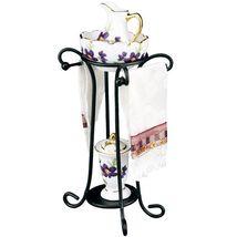 Dollhouse Violet Flower Wash Stand Set 1.749/7 Reutter Miniature 2018 - $50.80
