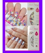 Set of 2 Nail Polish Applique Apps Strips Wrap 16 of Each Color Multicol... - $9.87
