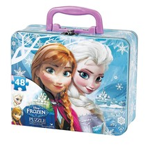 Disney Frozen Puzzle in Tin with Handle (48-Piece) - $3.99