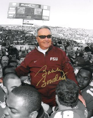 Bobby Bowden signed Florida State Seminoles 8x10 Photo Final Game Carryoff Spotl