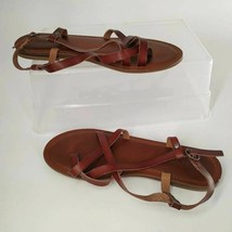 American Eagle Outfitters Womens Slingback Sandals Brown Adjustable Buckle 9 - $18.29