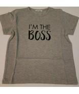 Avon I'm The Boss Kid Tee Shirt Size (M) 6/6X Grey New - $8.10