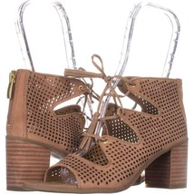 Franco Sarto Honolulu Perforated Lace Up Sandals, Sand, 6.5 US / 36.5 EU - $574,40 MXN