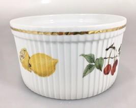 Royal Worcester Evesham Gold Porcelain Fruit Souffle Dish Casserole 2.5 ... - $33.32