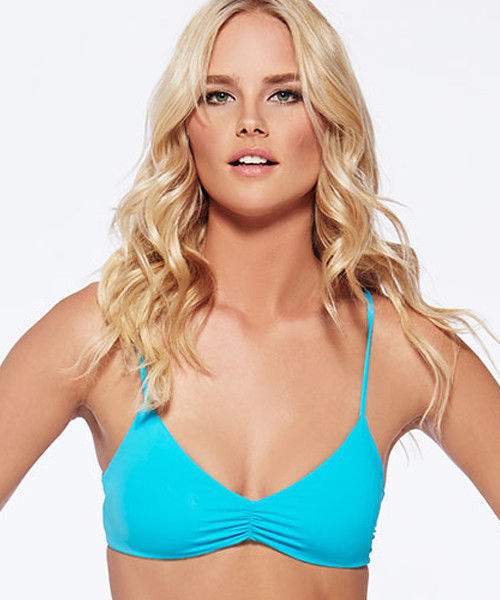 NWT L SPACE XS swimsuit bikini 2PC turquoise strappy Haley top Charlie bottom