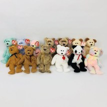 Ty Beanie Babies Teddy Bear Lot of 13 Harry Valentino Fuzz Some With Tag... - $29.02