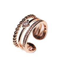 Ring Ladies Accessories Concise Style Fashion Simple Wild Unique Clover Diamond