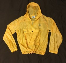 Vtg Izod Lacoste Mens Sz M 1/4 Zip Pullover Windbreaker Jacket Yellow - $29.99
