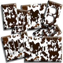 COW HIDE SKIN PRINT LIGHT SWITCH OUTLET WALL PLATE COUNTRY STYLE ROOM HO... - $8.99+