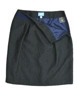 "SIMPLY VERA WANG Black Brocade Sparkly Metallic Past Knees Skirt 29"" 6 - $7.91"
