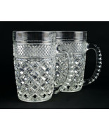 Anchor Hocking Wexford Clear Tall Mugs 2 pc Set, Vintage Glass Beer 14oz... - $14.70