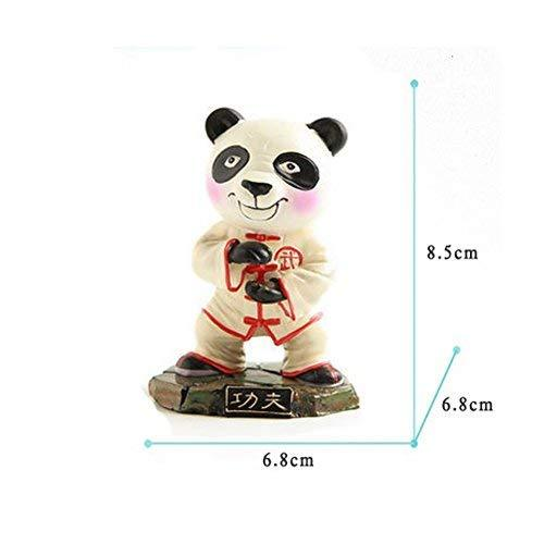 Cute Kongfu Panda Toy Mini Panda Puppet Home Decorations Kids' Gift(Beige)