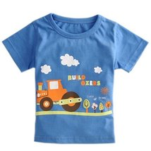 Tractor Pure Cotton Infant Tee Baby Toddler T-Shirt NAVY 90 CM (12-18M)