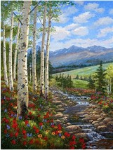 """Nice Landsacpe16X20"""" Unframed Paint By Number Kit DIY Acrylic Painting o... - $8.90"""