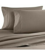 2 Pack 100% Pima Cotton 500 Thread Count King Pillow Cases Cafe Brown - $29.68