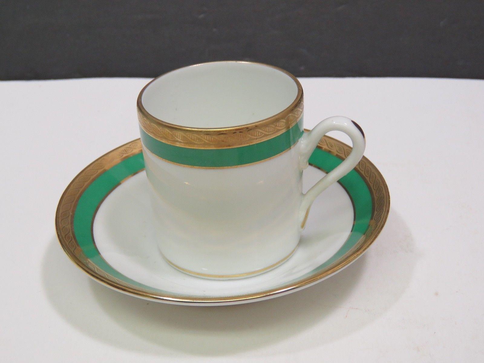 Gold Vintage EUC Fine Porcelain Espresso Demitasse Cup /& Saucer