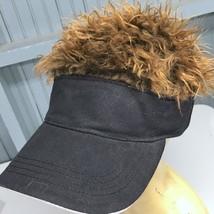 Novelty Flairhair Wig Visor Brown Hair Baseball Cap Hat One Size - $15.59