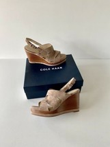✨New COLE HAAN Laci Suede Platform Wedge Sandals Stone Taupe Womens Size 10.5B - $74.52