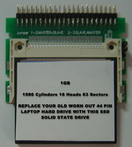 """SSD AREAL A180 2.5"""" IDE Drive Replace with this SSD 1GB 2.5"""" 44 PIN IDE Card image 2"""
