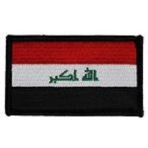 Iraq Flag 2 X 3 Embroidered Patch With Hook Loop - $18.04