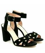 Kate Spade New York Women Ankle Strap Sandals Oakwood Size US 9.5M Black Suede - $135.00