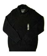 American Rag Mens Knit Shawl Collar Pullover Sweater Deep Black Large - $12.61