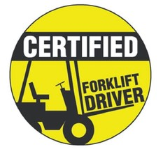 Certified Forklift Driver Hard Hat Decal Hardhat Sticker Helmet Label H119 - $1.79+