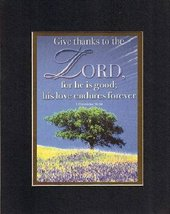 Give Thanks to the Lord, . . . 8 x 10 Inches Biblical/Religious Verses s... - $11.14