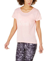 Ideology Women's Be Authentic Graphic T-Shirt (Peach Kiss, L) - $23.74