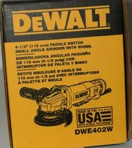 DeWalt DWE402W Paddle Switch Small Angle Grinder with Wheel Corded USA Made image 6