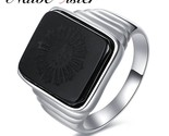 The great gatsby high quality men s ring black onyx 925 sterling silver ring men s thumb155 crop