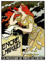 Decor Poster. Ink l.Marquet. Fine Graphic Design Art.Wall Decoration 1505 - $11.30+