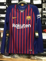 nike Fc barcelona Home Jersey 2019 Long Sleeve #10 Messi Name And Number Size S - $128.70