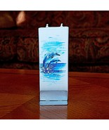 Two Dolphins Flatyz Handmade Twin Wick Unscented Thin Flat Candle Dripless - $17.05