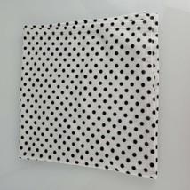 Baby Starters Black White Polka Dot Circle Fleece Blanket - $49.49