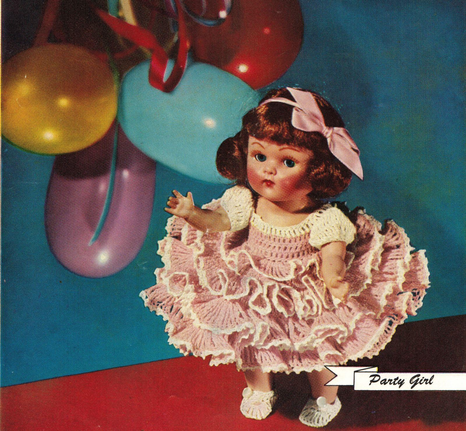 "Vtg 1952 8"" 11"" Americas State Dolls Costume Clothes Georgia Rio Crochet Pattern image 8"