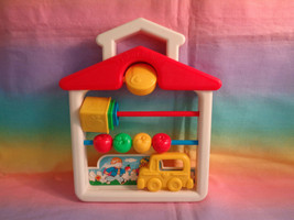 Vintage 1991 Fisher Price Discovery Beads School Travel Size Nesting Cup... - $4.90