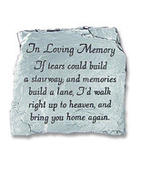 In Loving Memory Plaque If Tears Could Build A Stairway Slate Memorial P... - $23.75