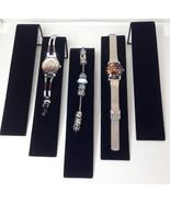 Five  Black Velvet Bracelet Watch Ramps Jewelry Display Stands Ramp Stand - $16.50