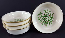 "LENOX China Holiday Dimension 4 Fruit/Dessert (Sauce) Bowl 5-3/8"" Dinner... - $79.19"