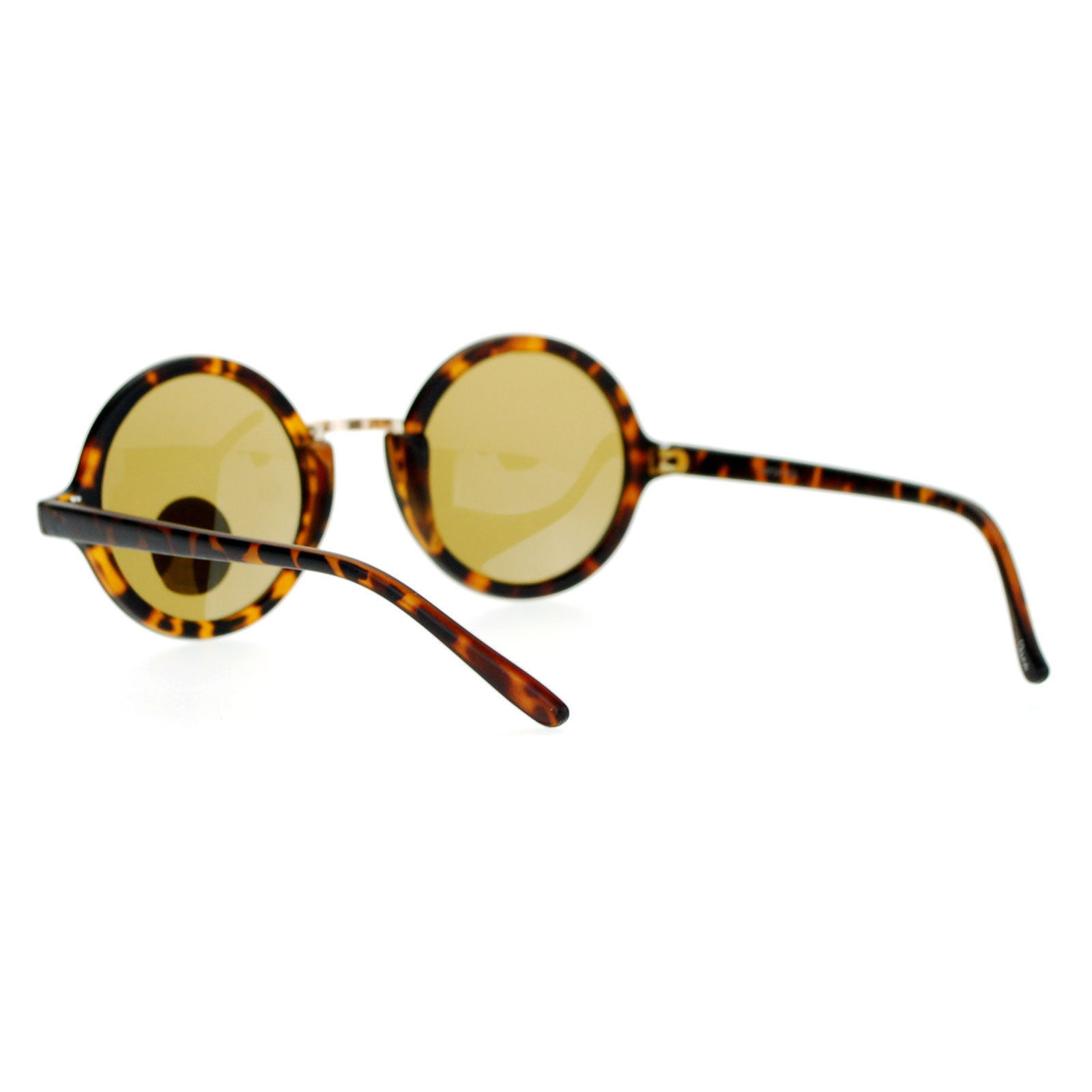 Glass Lens Sunglasses Vintage Designer Fashion Round Circle Frame
