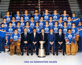 Edmonton Oilers 1983-84 Team 8X10 Photo Hockey Picture Nhl Stanley Cup Champs - $3.95