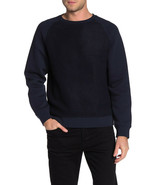 $245 Vince Faux Shearling Teddy Crew Neck Pullover Sweater,COASTAL,SIZE M - $98.99