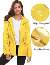 Women's Travel Jacket Waterproof Lightweight Reflective Windbreaker Outd... - $45.52