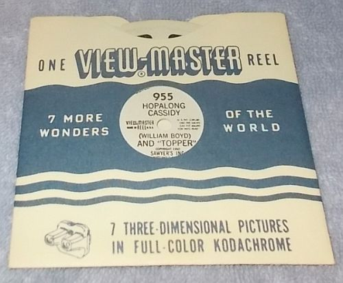 Sawyers View Master Reel 955 Hopalong Cassidy And Topper