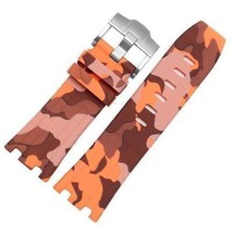 Bracelet FOR Audemars Piguet Royal Oak offshore rubber 28m Orange camouf... - $24.78+