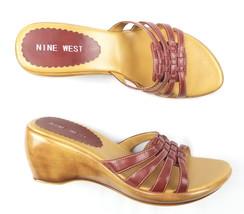 Nine West Womens Wedge Slides Size 8 M-Cray - $14.78